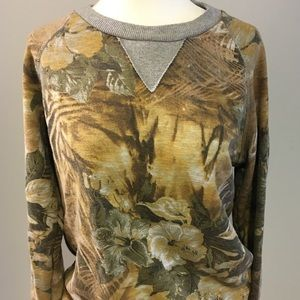 Sweaters - Lovely vintage tan/brown floral sweatshirt